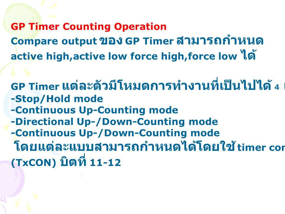 GP Timer Counting Operation