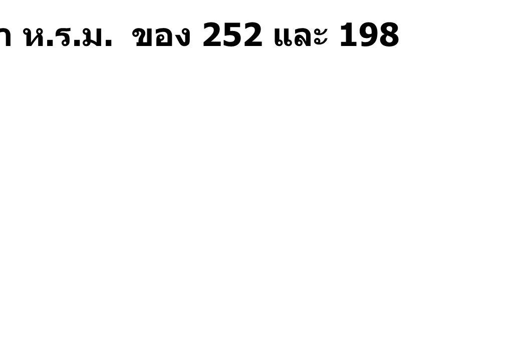 จงหา ห.ร.ม. ของ 252 และ 198