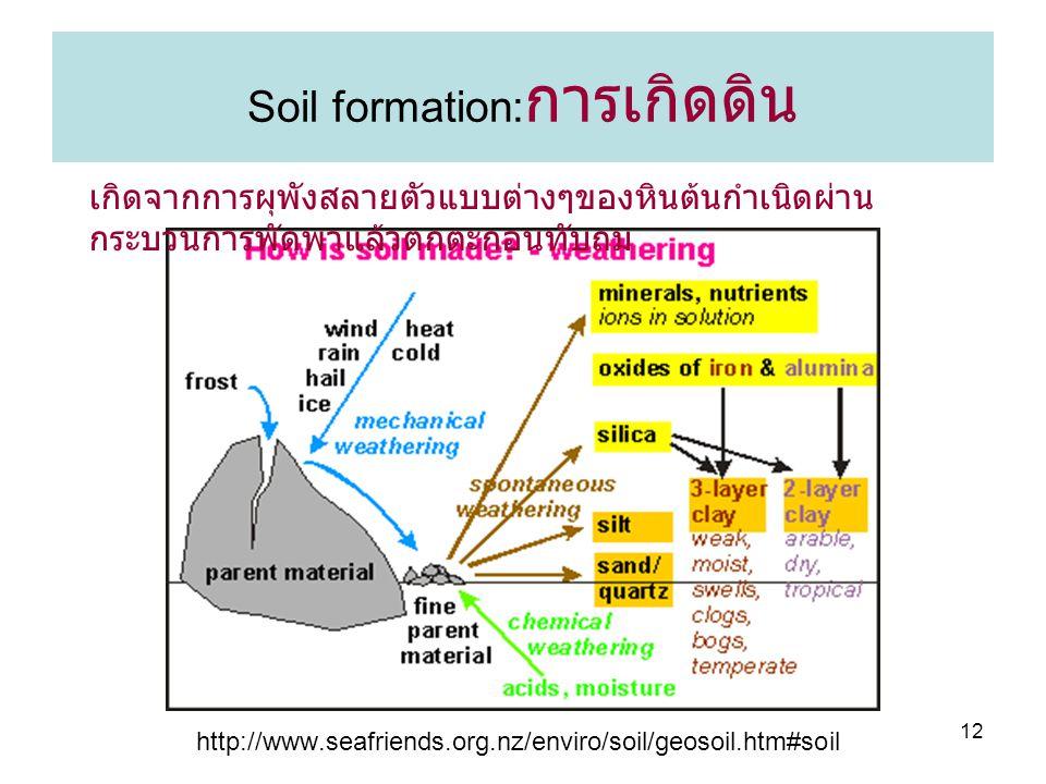 Soil formation:การเกิดดิน