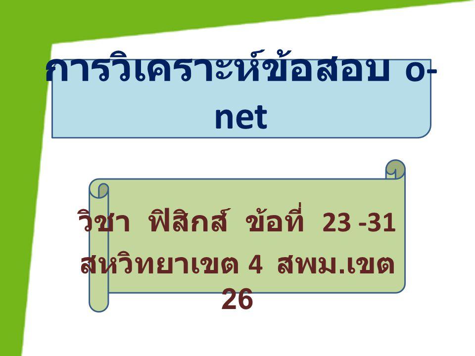การวิเคราะห์ข้อสอบ o-net
