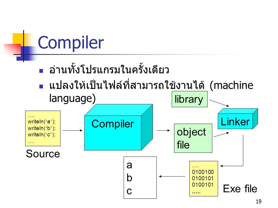 Compiler อ่านทั้งโปรแกรมในครั้งเดียว