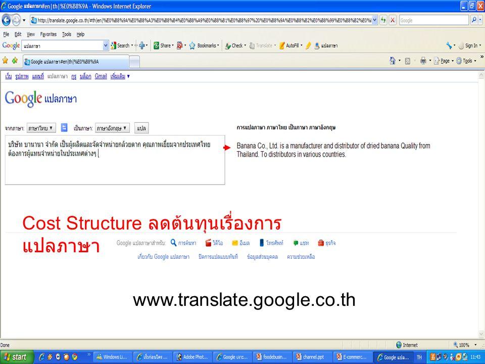Cost Structure ลดต้นทุนเรื่องการแปลภาษา
