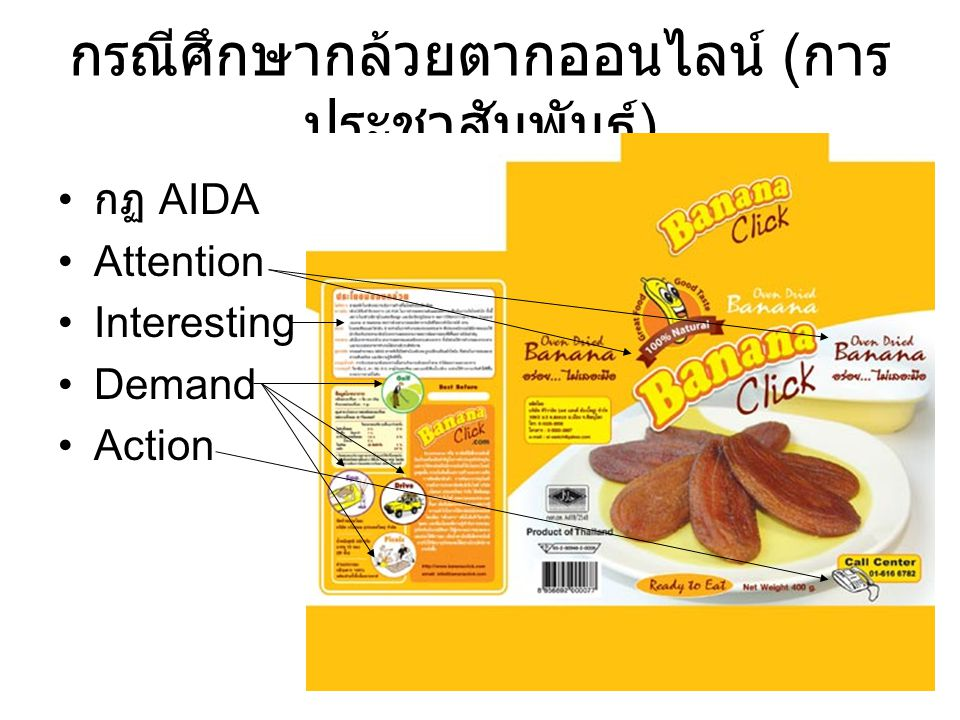 กรณีศึกษากล้วยตากออนไลน์ (การประชาสัมพันธ์)