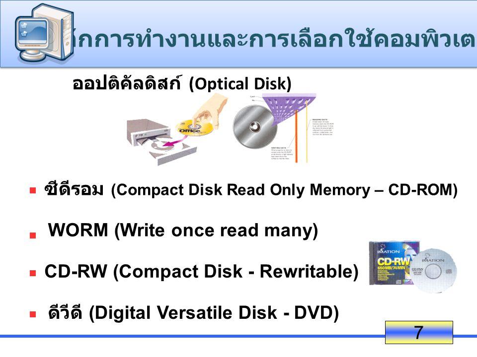 ออปติคัลดิสก์ (Optical Disk)