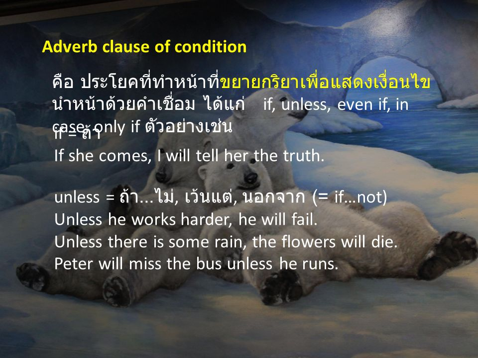 Adverb clause of condition