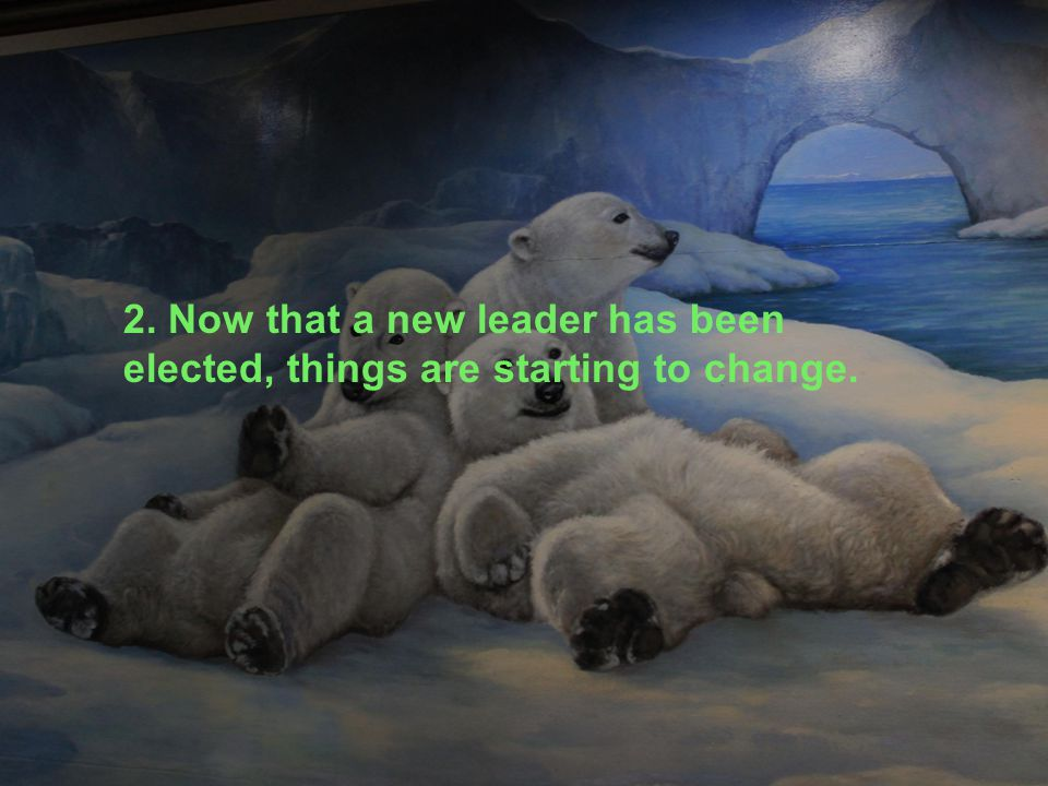 2. Now that a new leader has been elected, things are starting to change.