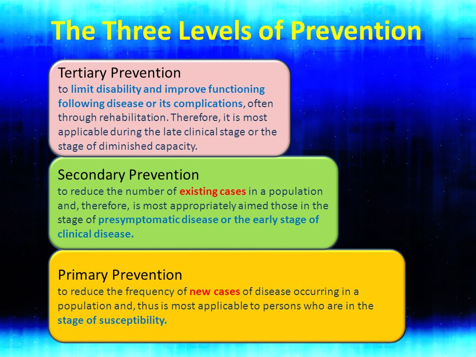 The Three Levels of Prevention