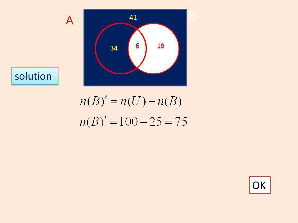 B A 41 6 19 34 solution OK
