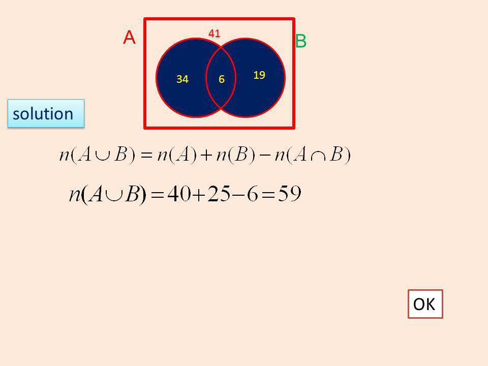 A 41 B 19 34 6 solution OK