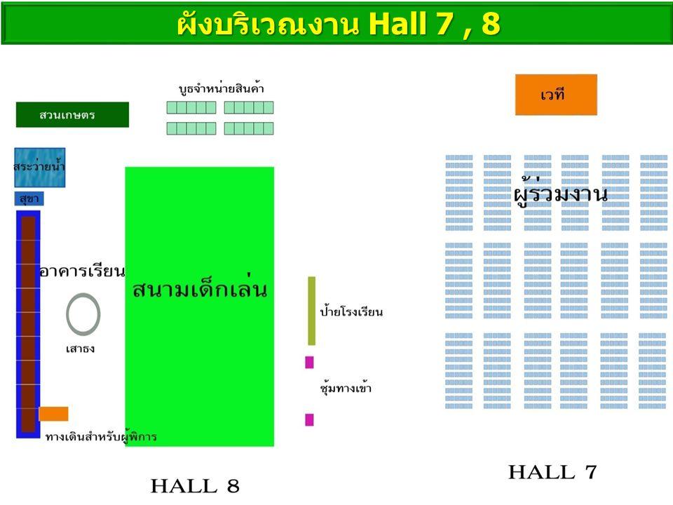 ผังบริเวณงาน Hall 7 , 8