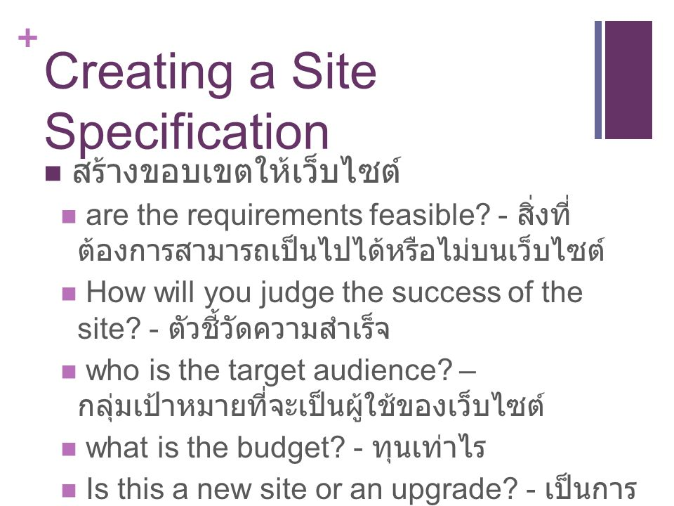 Creating a Site Specification