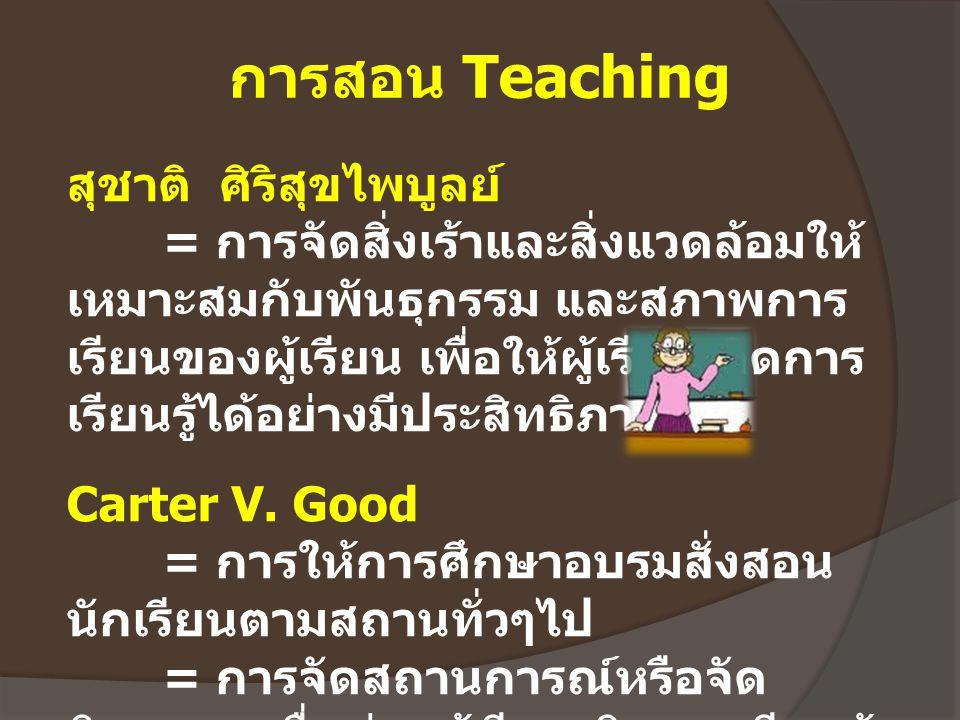 การสอน Teaching สุชาติ ศิริสุขไพบูลย์
