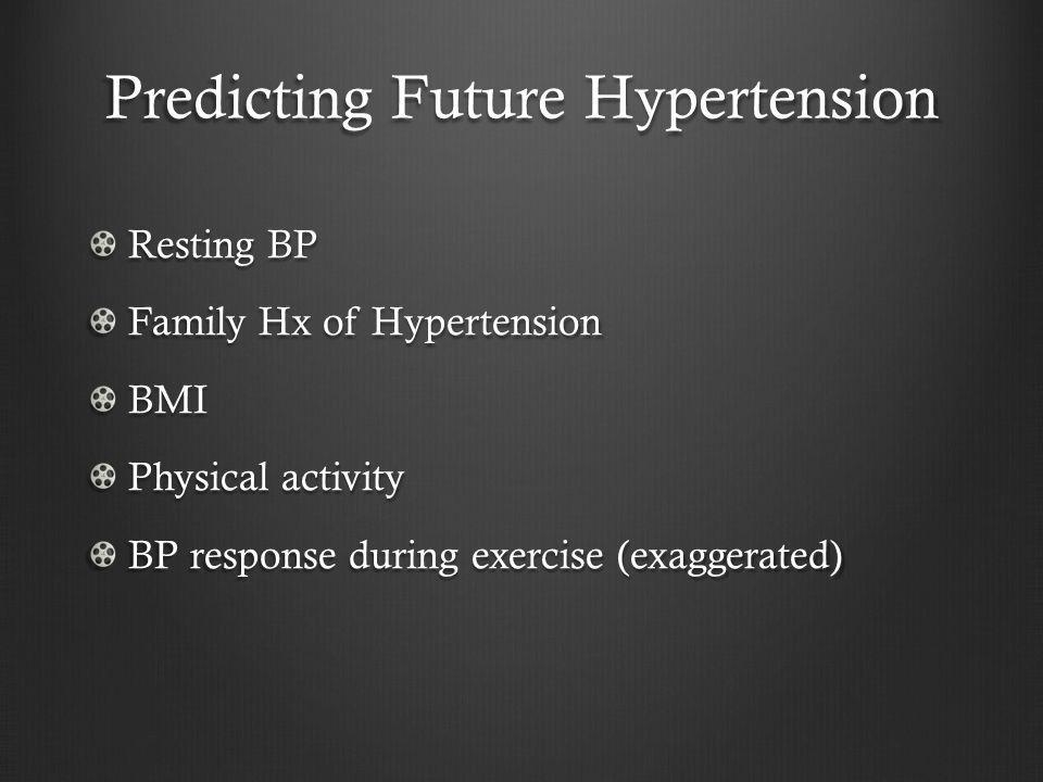 Predicting Future Hypertension