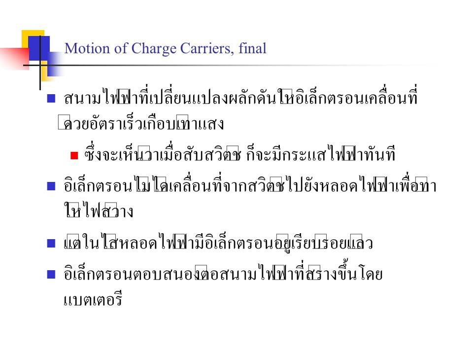Motion of Charge Carriers, final