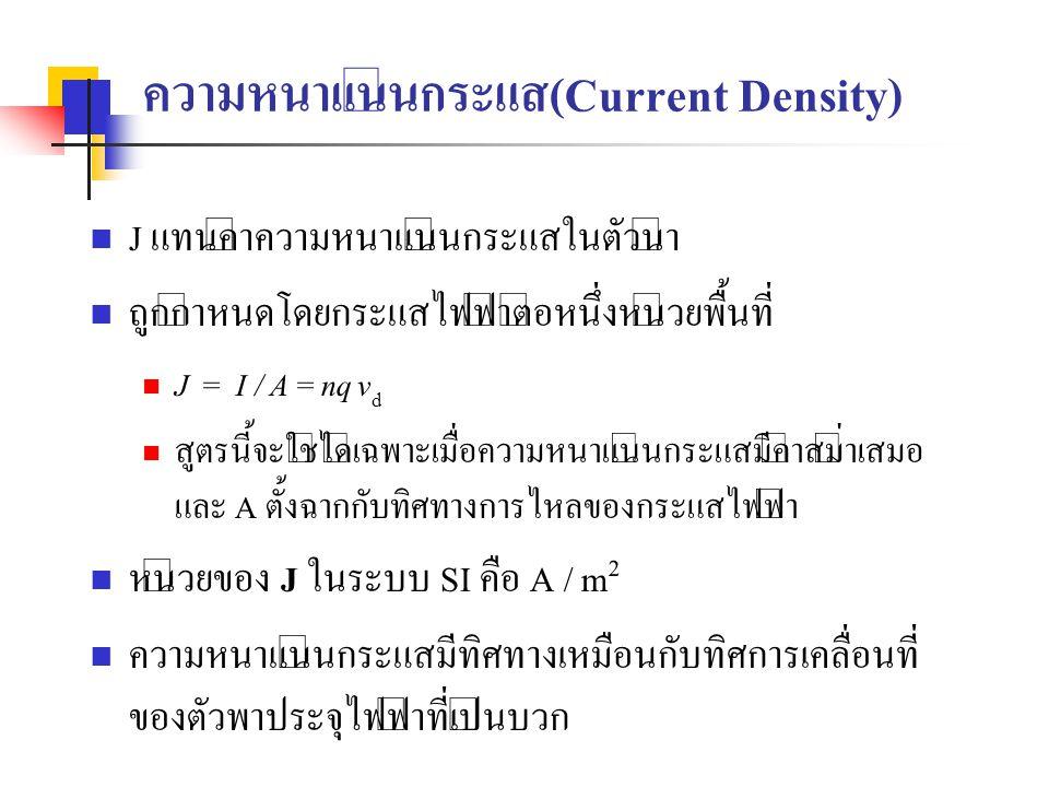 ความหนาแน่นกระแส(Current Density)