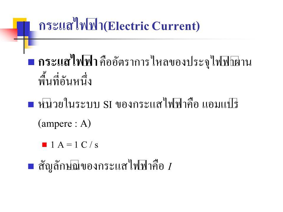 กระแสไฟฟ้า(Electric Current)