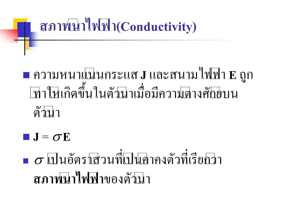 สภาพนำไฟฟ้า(Conductivity)