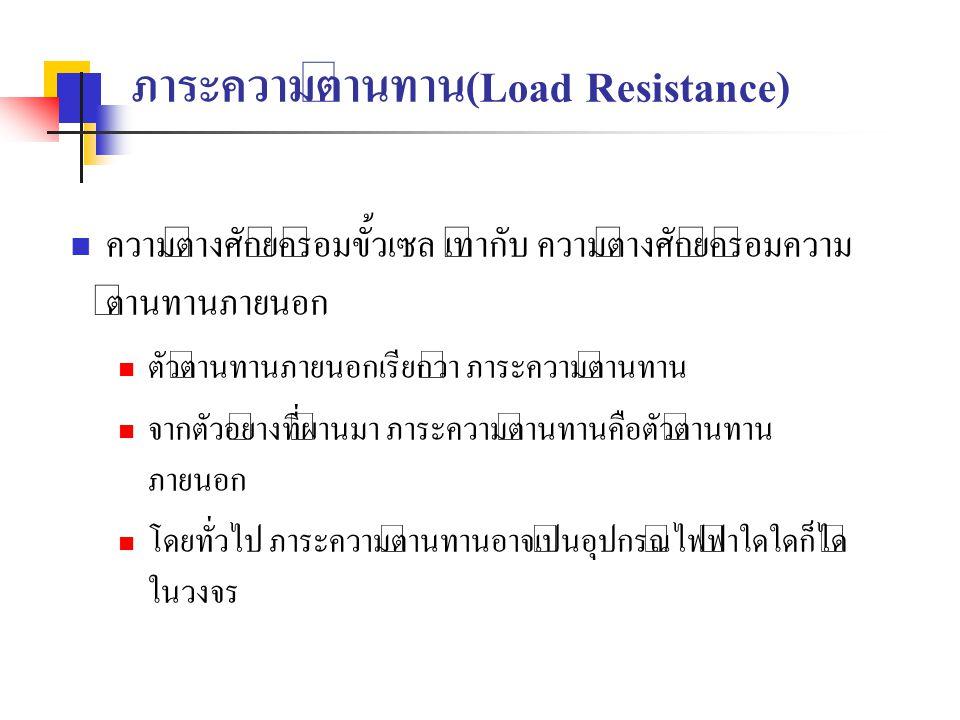 ภาระความต้านทาน(Load Resistance)