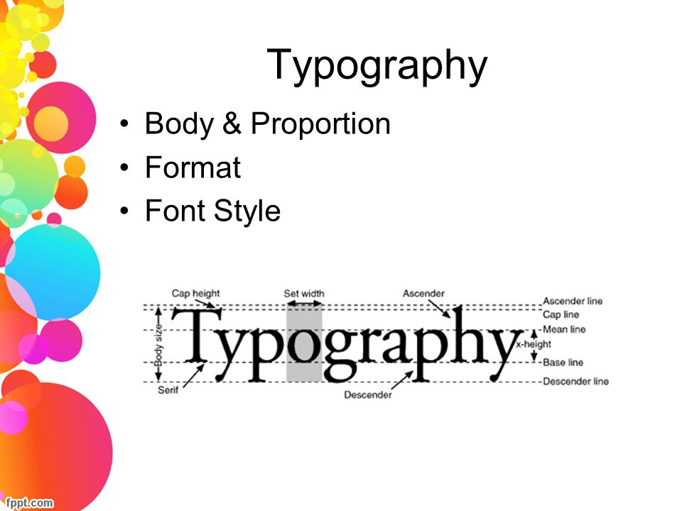 Typography Body & Proportion Format Font Style