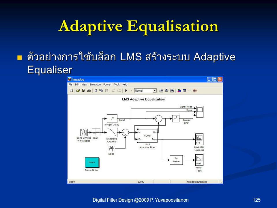 Adaptive Equalisation
