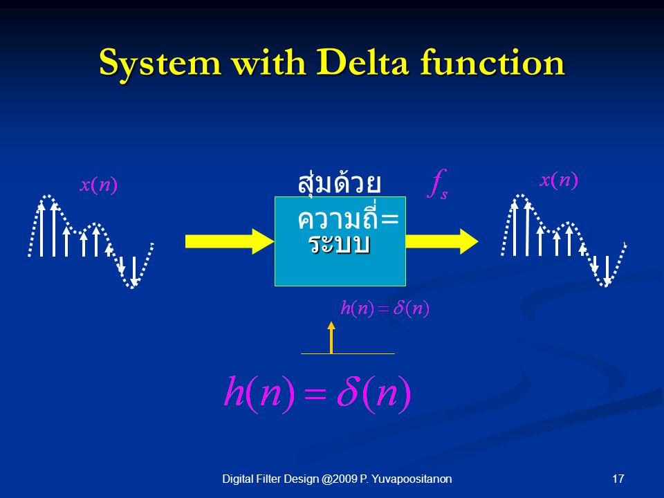 System with Delta function