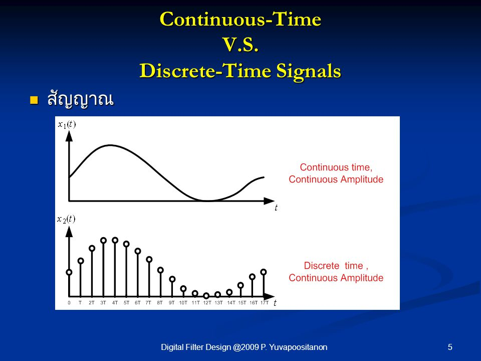 Continuous-Time V.S. Discrete-Time Signals