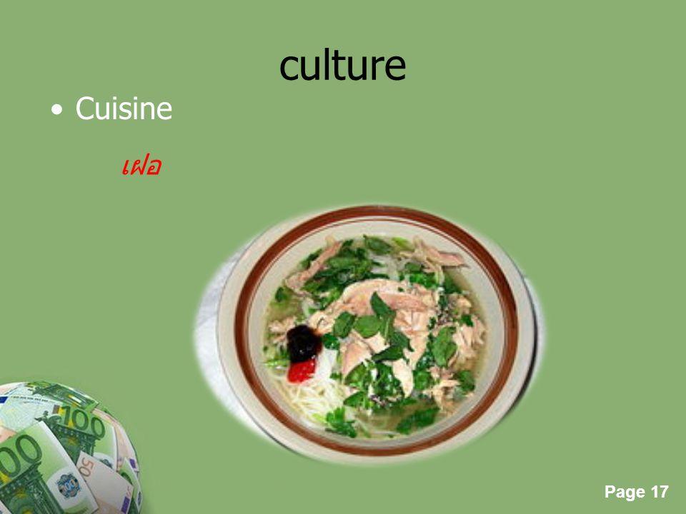 culture Cuisine เฝอ