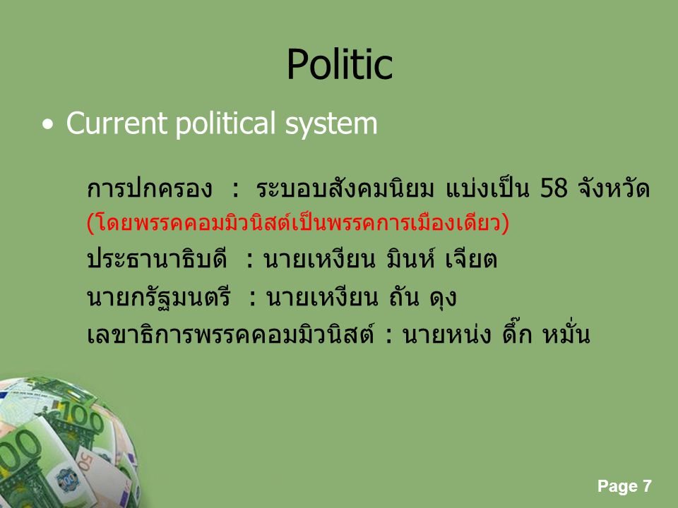 Politic Current political system