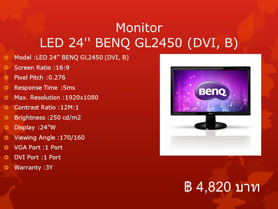 Monitor LED 24 BENQ GL2450 (DVI, B)