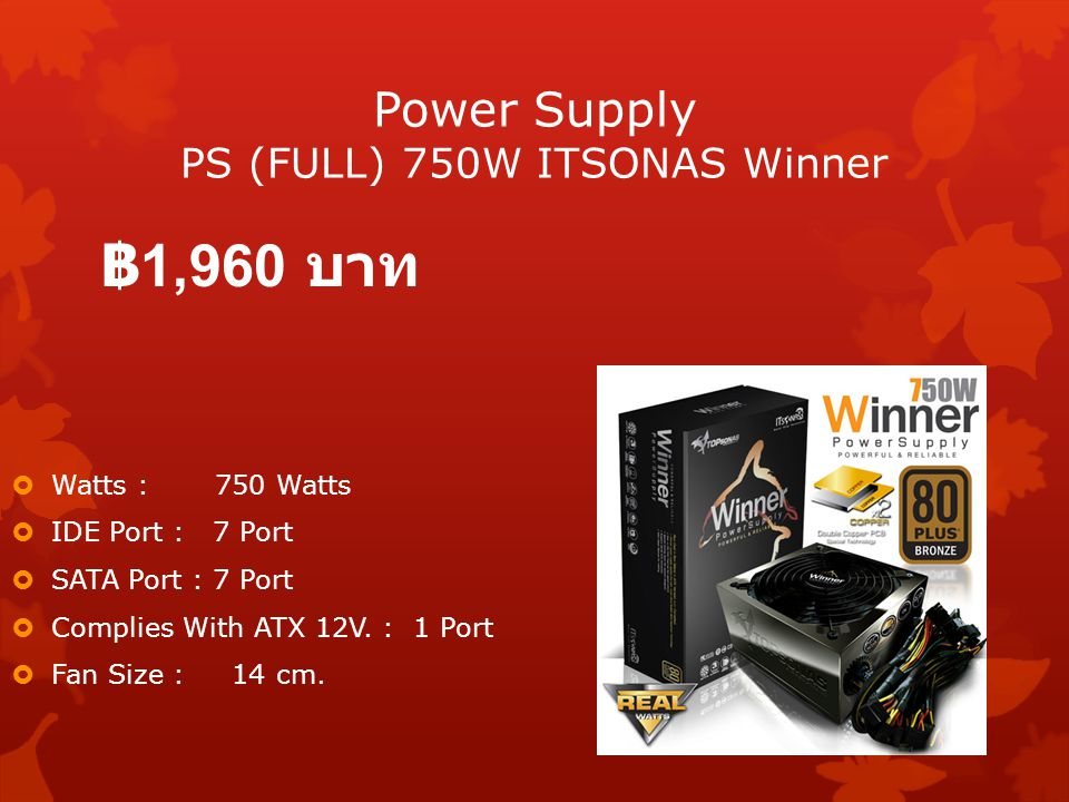 Power Supply PS (FULL) 750W ITSONAS Winner