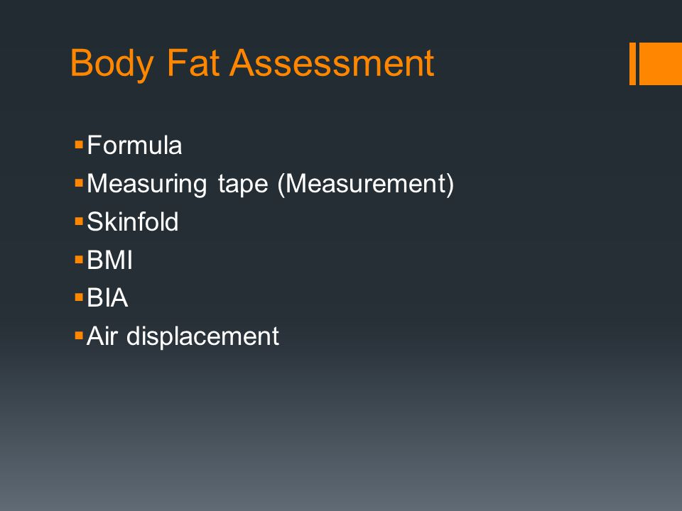 Body Fat Assessment Formula Measuring tape (Measurement) Skinfold BMI
