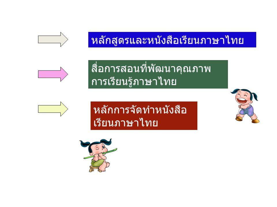 หลักสูตรและหนังสือเรียนภาษาไทย