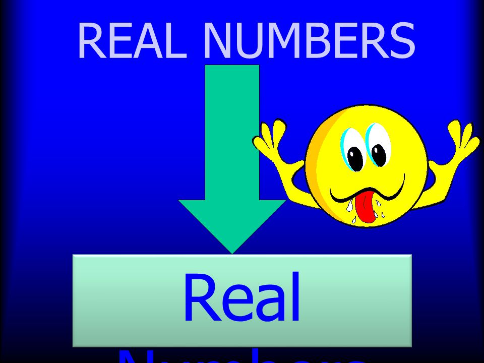 REAL NUMBERS Real Numbers