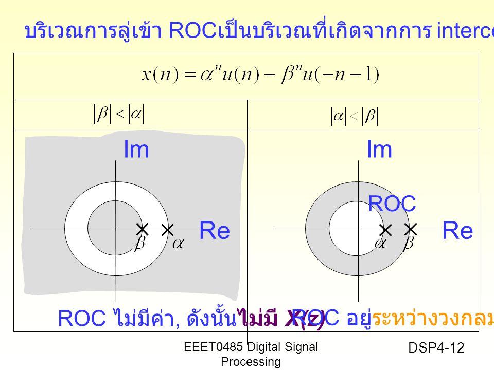 บริเวณการลู่เข้า ROCเป็นบริเวณที่เกิดจากการ interceptionของROC ทั้งสอง