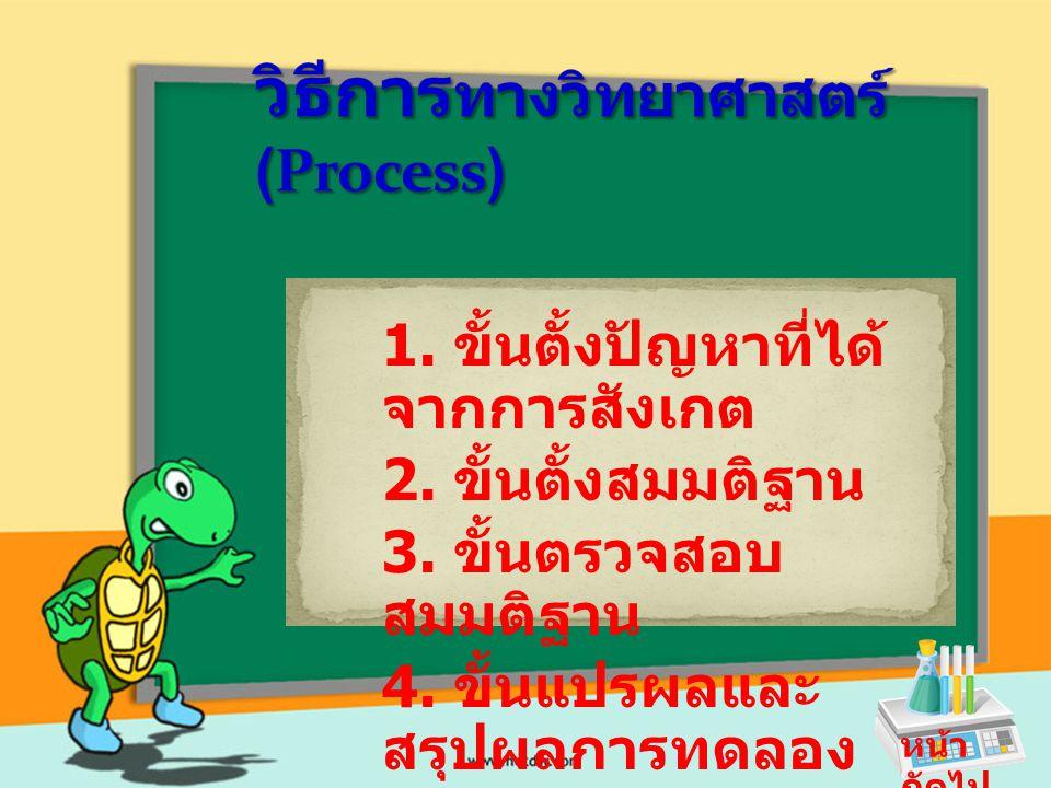 วิธีการทางวิทยาศาสตร์ (Process)