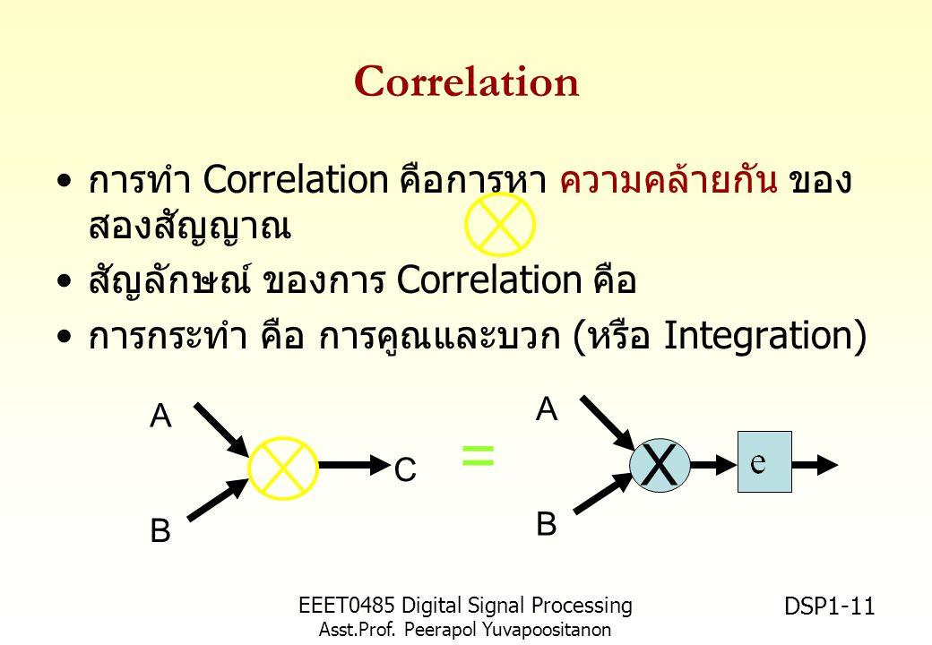 = X Correlation การทำ Correlation คือการหา ความคล้ายกัน ของสองสัญญาณ