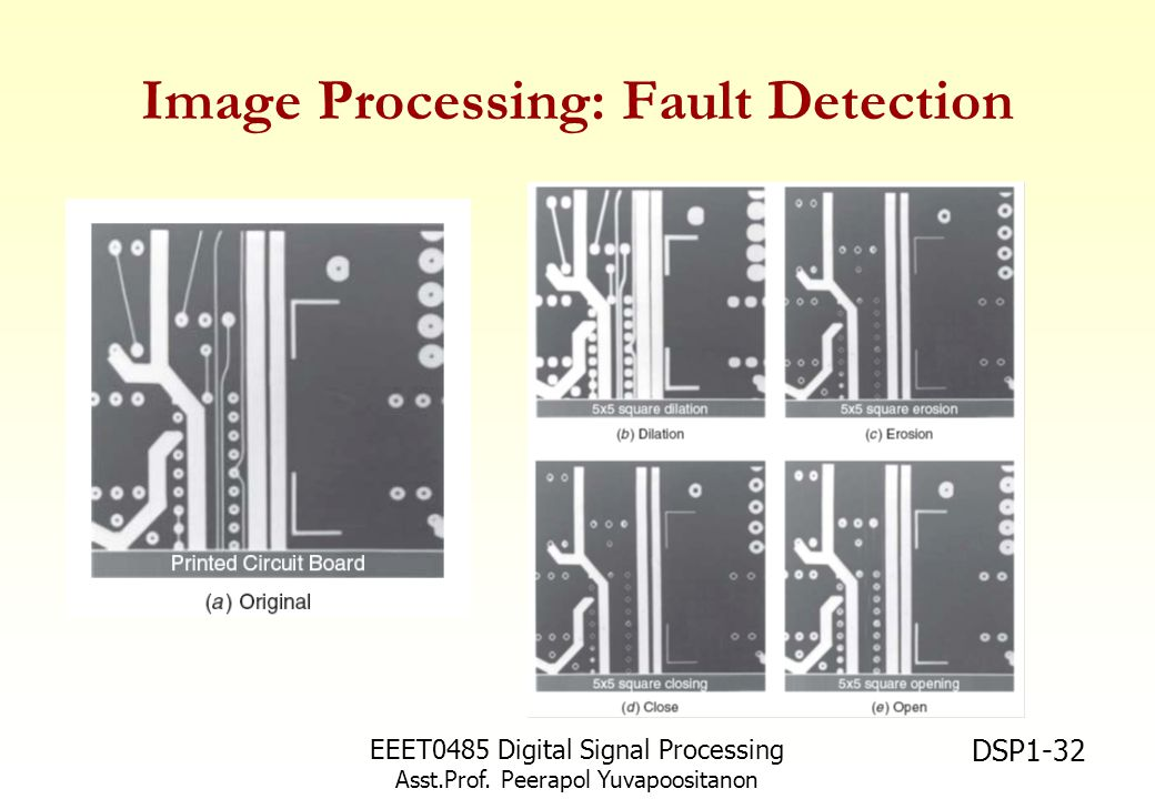 Image Processing: Fault Detection