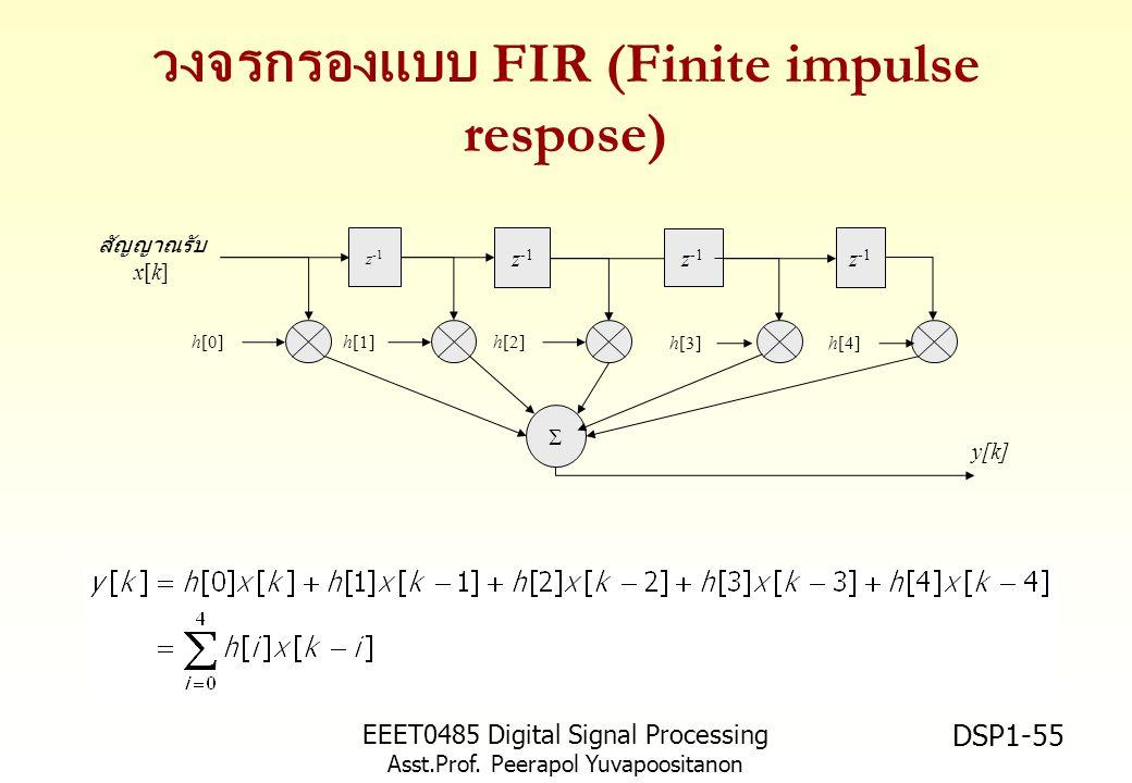 วงจรกรองแบบ FIR (Finite impulse respose)