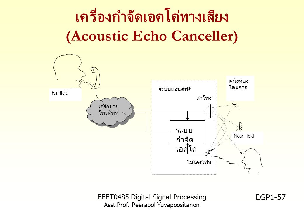 เครื่องกำจัดเอคโค่ทางเสียง (Acoustic Echo Canceller)