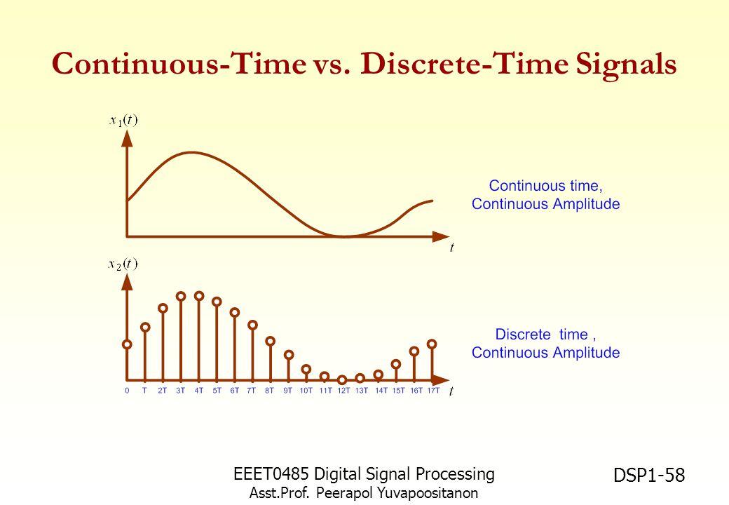 Continuous-Time vs. Discrete-Time Signals