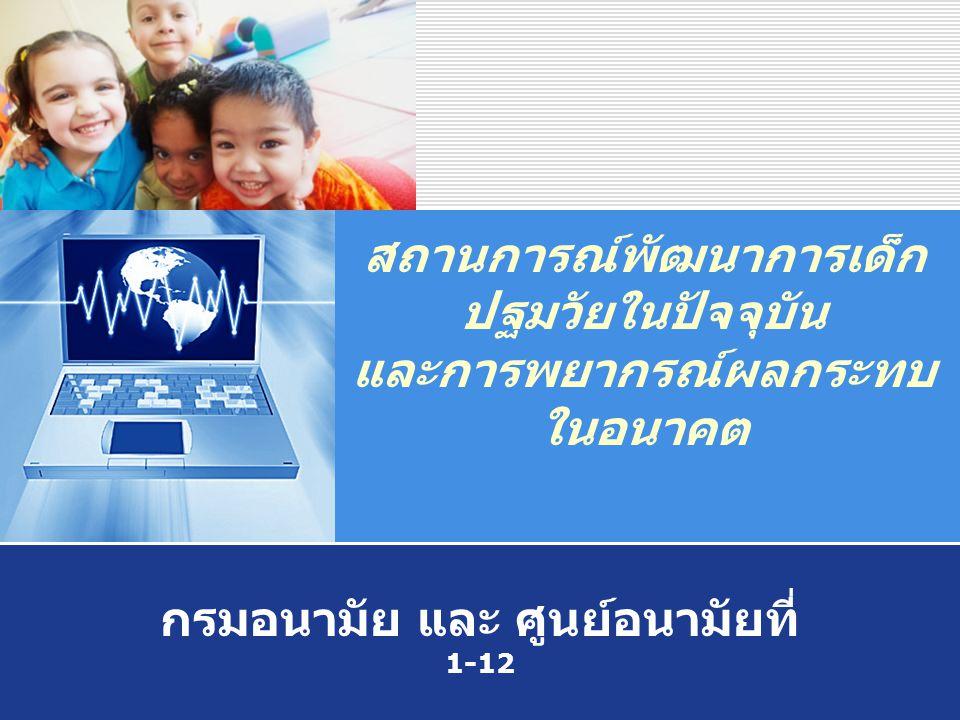 สถานการณ์พัฒนาการเด็กปฐมวัยในปัจจุบัน และการพยากรณ์ผลกระทบในอนาคต