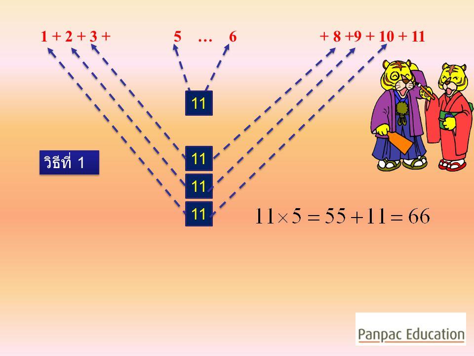 1 + 2 + 3 + 5 … 6 + 8 +9 + 10 + 11 11 11 วิธีที่ 1 11 11