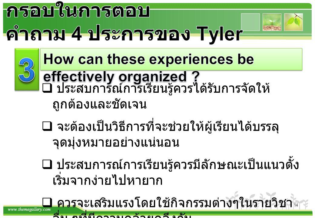 กรอบในการตอบคำถาม 4 ประการของ Tyler