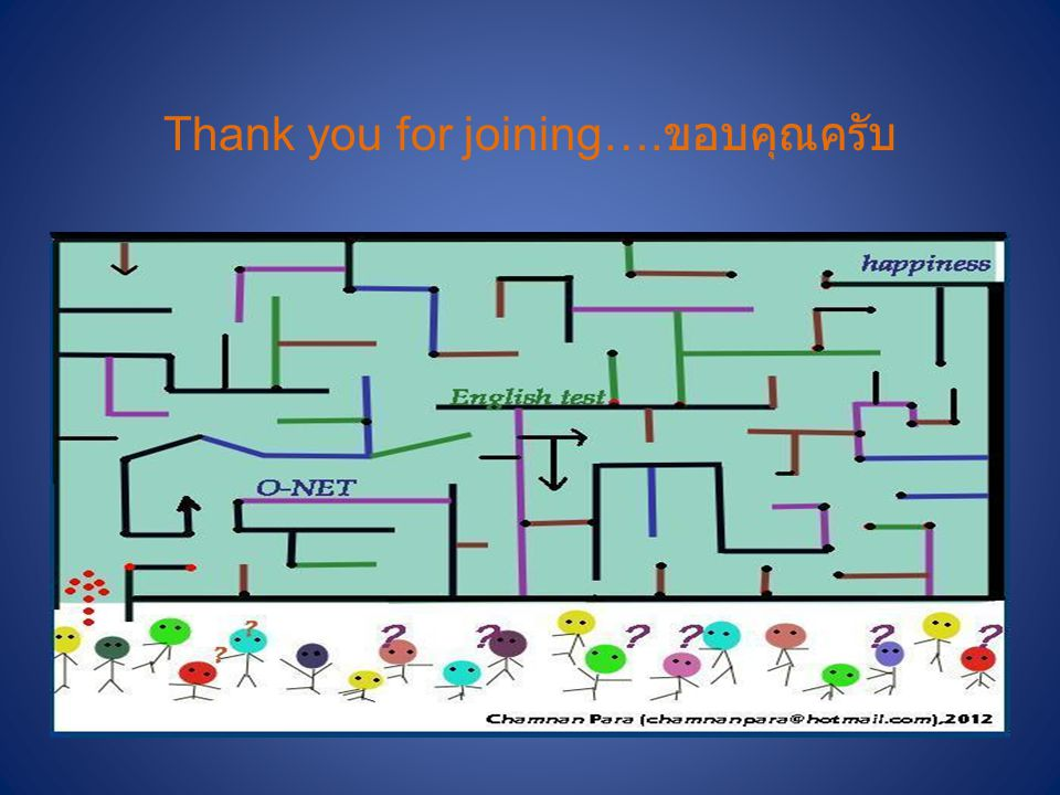 Thank you for joining….ขอบคุณครับ