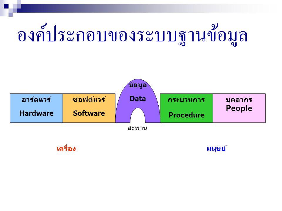 องค์ประกอบของระบบฐานข้อมูล
