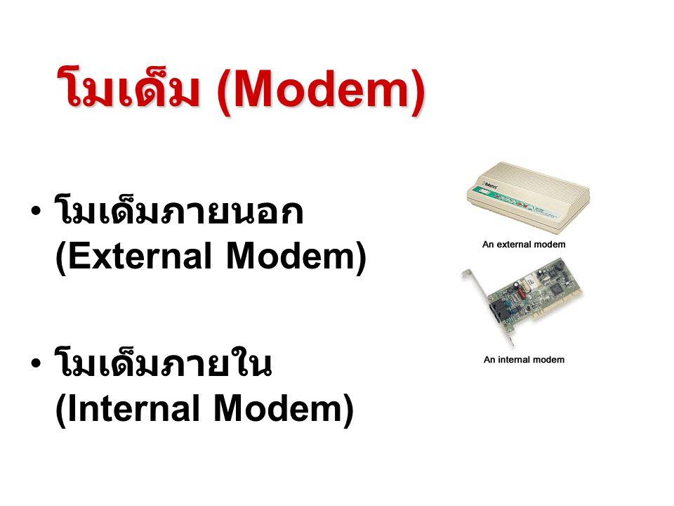 โมเด็ม (Modem) โมเด็มภายนอก (External Modem)