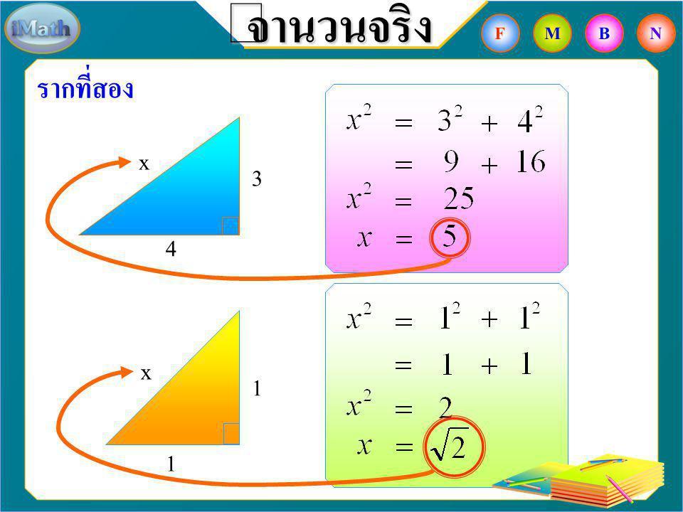 จำนวนจริง F M B N รากที่สอง x 3 4 x 1 1