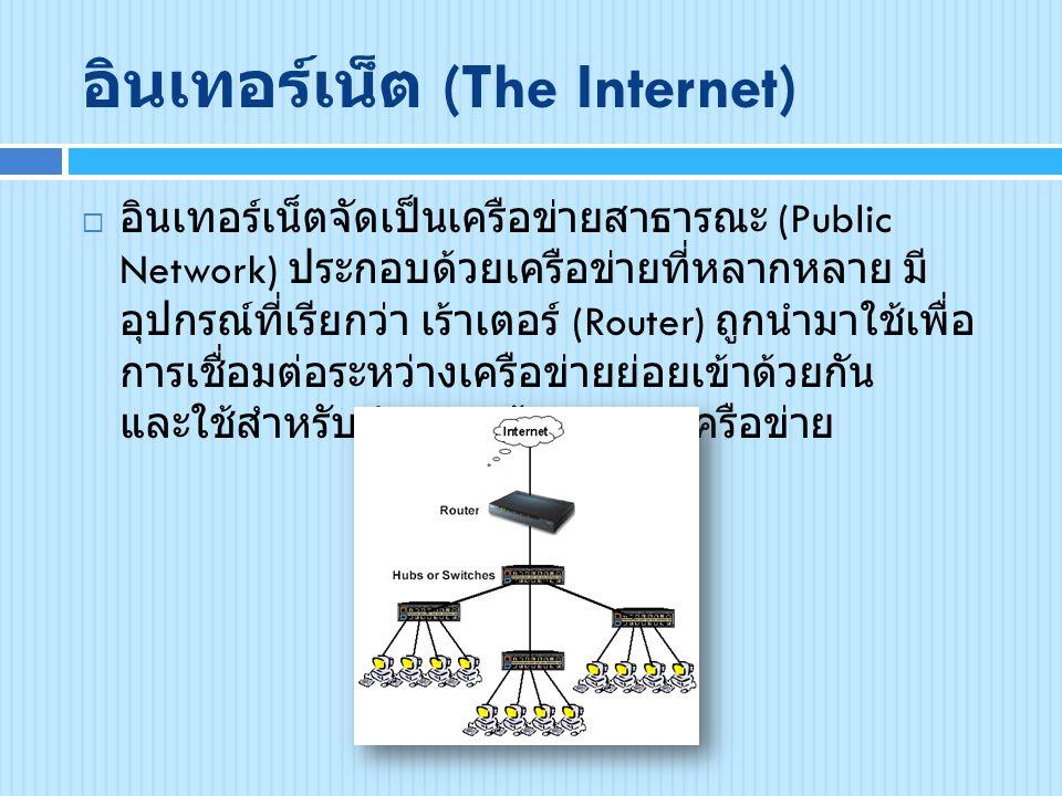 อินเทอร์เน็ต (The Internet)