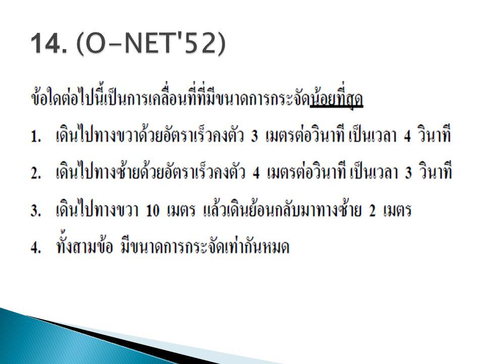 14. (O-NET 52)