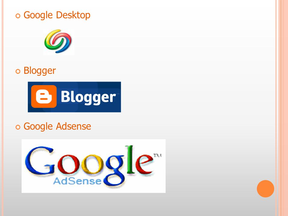 Google Desktop Blogger Google Adsense